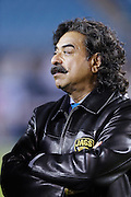 Jacksonville Jaguars owner Shahid Khan looks on during a field visit before the NFL week 14 football game against the Houston Texans on Thursday, Dec. 5, 2013 in Jacksonville, Fla. The Jaguars won the game 27-20. ©Paul Anthony Spinelli