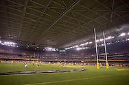 Wide angle of the field from end to end during the second test between the DHL Australian Wallabies vs HSBC British And Irish Lions at Etihad Stadium, Melbourne, Victoria, Australia. 29/06/0213. Photo By Lucas Wroe