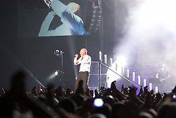 "24.04.2015, Rothaus Arena, Freiburg, GER, Unheilig, Gipfelstürmer Tournee 2015, im Bild Frontsaenger der Graf, Bernd Graf // performs live on stage during the 2015 tour ""Gipfelsturmer"" at Rothaus Arena in Freiburg, Germany on 2015/04/24. EXPA Pictures © 2015, PhotoCredit: EXPA/ Eibner-Pressefoto/ Fleig<br /> <br /> *****ATTENTION - OUT of GER*****"