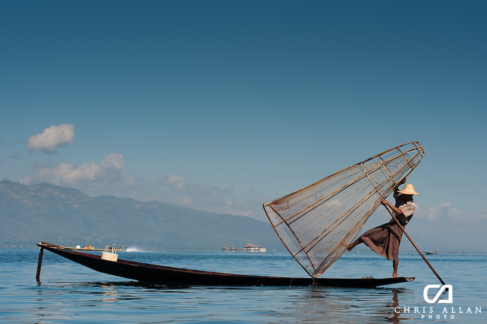 Burmese Fisherman on Inle Lake