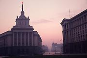 November 18, 1989. Sofia, Bulgaria. The red star shines over the capital for the last few days. (Photo Heimo Aga)