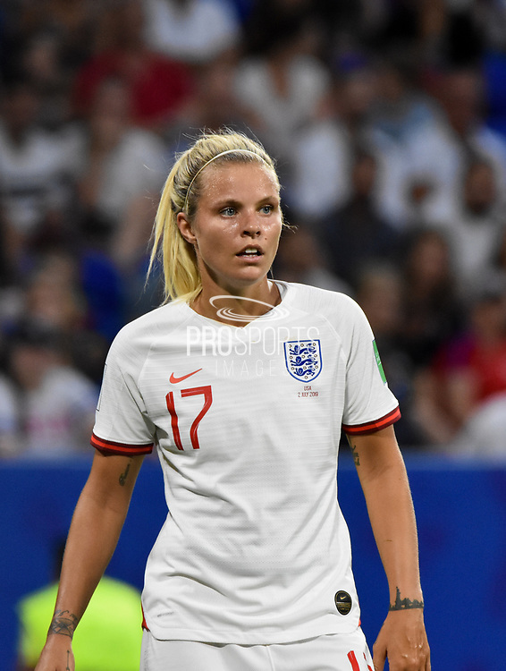 Rachel Daly of England reacts during the FIFA Women's World Cup France 2019, semi-final football match between England and USA on July 2, 2019 at Stade de Lyon in Lyon, France - Photo Melanie Laurent / A2M Sport Consulting / ProSportsImages / DPPI