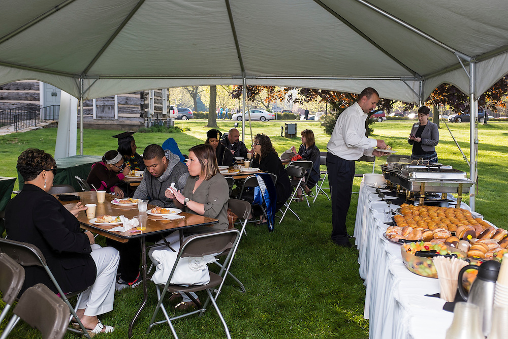 University College breakfast reception held in Pepsi Tailgreat Park before Undergraduate Commencement on Saturday, May 2, 2015.  Photo by Ohio University  /  Rob Hardin