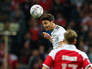 FOOTBALL: Jonas Hector (Germany) jumps for the ball during the Friendly match between Denmark and Germany at Brøndby Stadion on June 6, 2017 in Brøndby, Denmark. Photo by: Claus Birch / ClausBirch.dk.