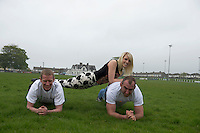 Five charities have issued a challenge to sporting enthusiasts in Galway to join them in a fundraising Guinness world record attempt &ndash; &lsquo;We&rsquo;re Planking it&rsquo;.<br /> The record which they are attempting to break is for the most people holding the abdominal plank position. It is being undertaken under the stewardship of local couple Sene and George Naoupu and a team of fitness instructors from their health and lifestyle business.<br /> The benefiting charities include Self Help Africa, the Irish Heart Foundation, COPE Galway, ACT for Meningitis and Special Olympics Connaught.<br /> Hurler Ollie Canning  and John Muldoon , Connacht Rugby Captain were being put under pressure from Maire Treasa Ni Dhubhghaill TG4 with their training. Photo: andrew downes<br /> Photo:Andrew Downes