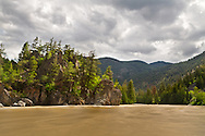 Spring runoff in the Similkameen River at Bromley Rock Provincial Park near Princeton, British Columbia, Canada