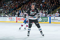 KELOWNA, CANADA - NOVEMBER 20: Braydyn Chizen #22 of Kelowna Rockets skates against the Edmonton Oil Kings on November 20, 2015 at Prospera Place in Kelowna, British Columbia, Canada.  (Photo by Marissa Baecker/ShoottheBreeze)  *** Local Caption *** Braydyn Chizen;