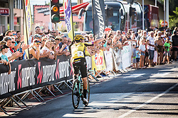 Primoz Roglic after the race with his fansSlovenian Road Cyling Championship 2019 on June 30, 2019 in Radovljica, Slovenia. Photo by Peter Podobnik / Sportida.