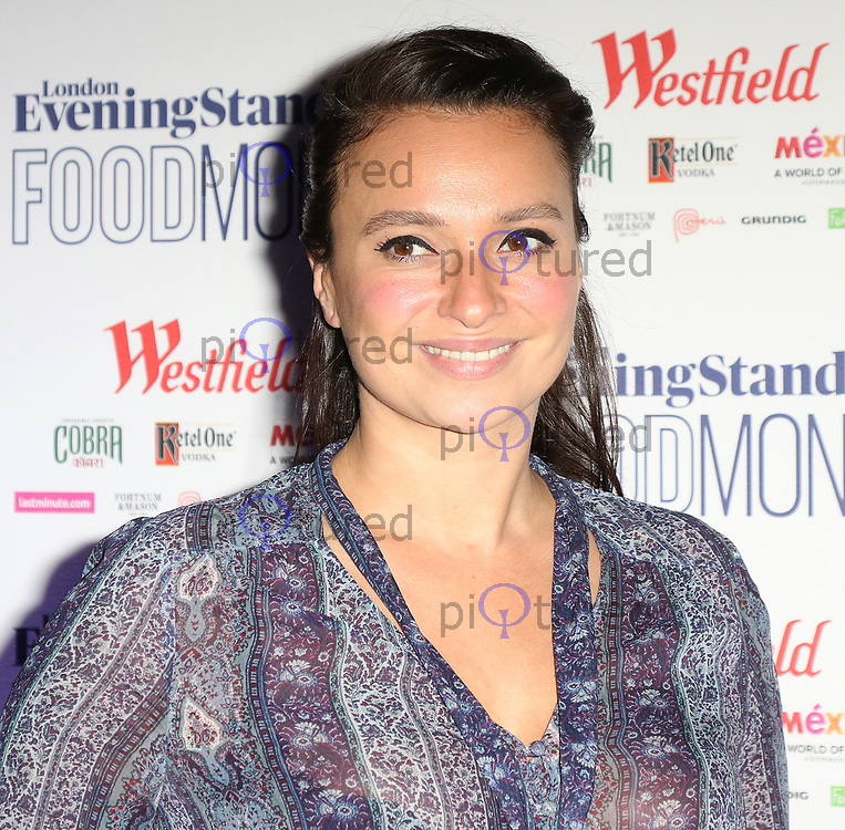 Gizzi Erskine, London Evening Standard Food Month - launch, Banking Hall, London UK, 30 May 2017, Photo by Richard Goldschmidt