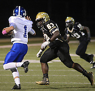 LEVITTOWN, PA - OCTOBER 31: Norristown's Desmond Gorski is chased by Truman's Marlin Williams in the first quarter at Harry S. Truman high school  October 31, 2014 in Levittown, Pennsylvania. (Photo by William Thomas Cain/Cain Images)
