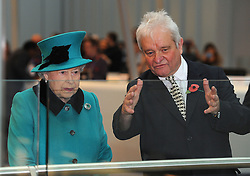 Queen Elizabeth II, stands with Sir Paul Nurse, director of the Francis Crick Institute in central London, during a visit to officially open the institute.
