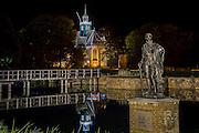 Noord-Holland bij nacht, aankleding, Egmond aan de hoef