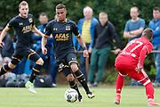 (L-R) Dabney Dos Santos Souza of AZ, Diogo Figueiras of Olympiakos Piraeus