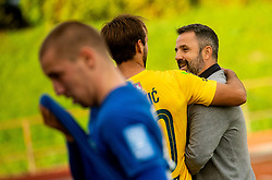 Mustafa Nukić of Bravo and Dušan Kosič, head coach of Celje after the football match between NK Bravo and NK Celje in 13th Round of Prva liga Telekom Slovenije 2019/20, on October 5, 2019 in ZAK stadium, Ljubljana, Slovenia. Photo by Vid Ponikvar / Sportida