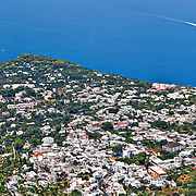 panoramic views of Anacapri from the chairlift