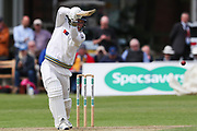 David Willey of Yorkshire batting during the Specsavers County Champ Div 1 match between Yorkshire County Cricket Club and Warwickshire County Cricket Club at York Cricket Club, York, United Kingdom on 17 June 2019.