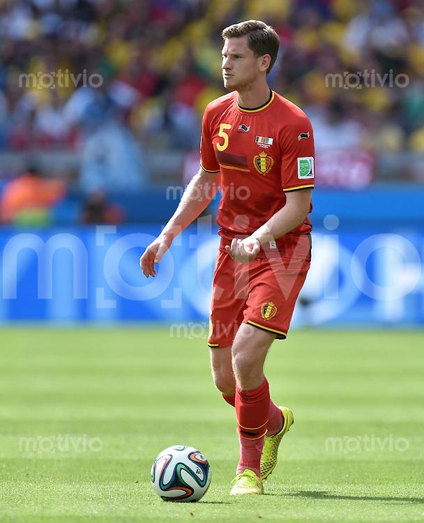 FUSSBALL WM 2014  VORRUNDE    Gruppe H     Belgien - Algerien                       17.06.2014 Jan Vertonghen (Belgien) am Ball