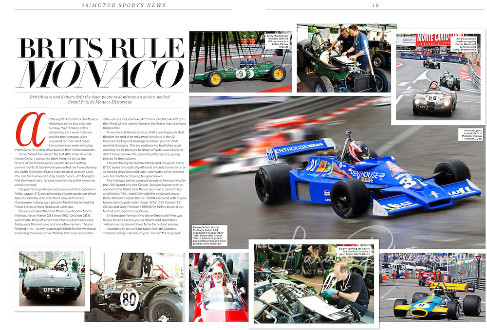 Monaco GP Historic 2012 Classic Cars magazine 3 pages.