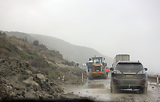 Blenheim-Flooding and slips on SH1 between Clarence and Blenheim