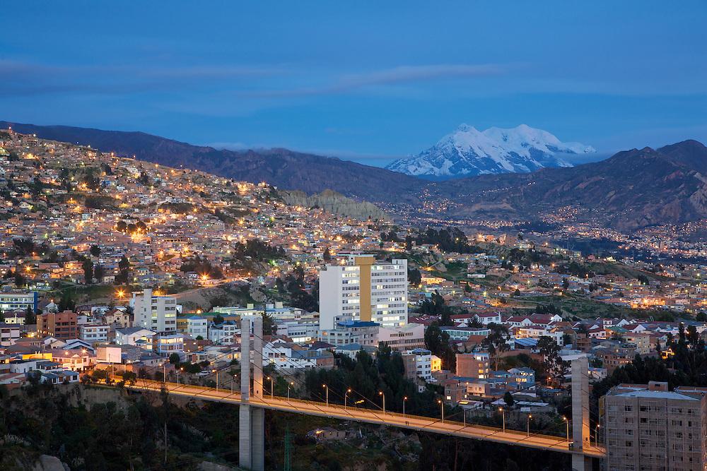 Panoramica Nocturna Norte-Sur - La Paz, Bolivia