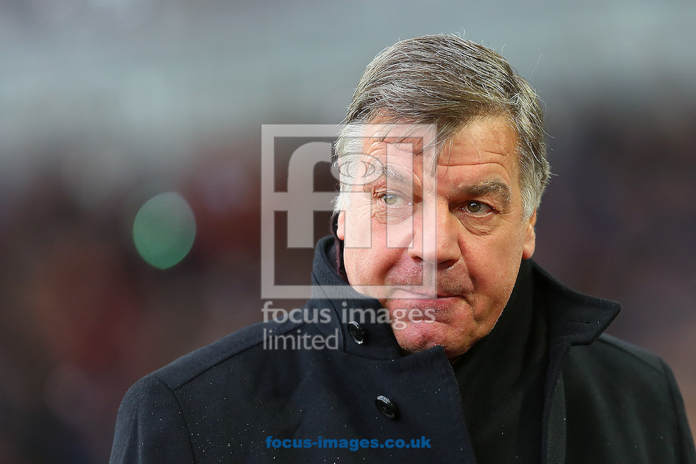 Manager of West Ham United, Sam Allardyce during the Barclays Premier League match at the Boleyn Ground, London<br /> Picture by Richard Calver/Focus Images Ltd +447792 981244<br /> 07/12/2014