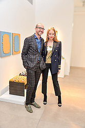 PETRA PALUMBO and GIANLUCA LONGO at a private view of Bright Young Things held at the David Gill Gallery, 2-4 King Street, London on 19th April 2016.
