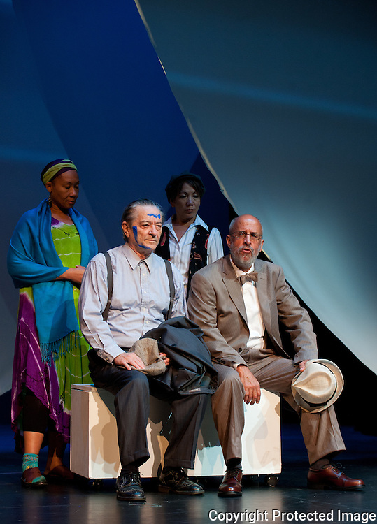 "(Photo by Paul W Gillespie) 9/14/11 Washington College Drama Department presents ""All Blues"" a new work by the distinguished playwright Robert Earl Price based on the story of a white newspaper reporter who traveled through the South in 1948 as a black man. The production is a collaboration between the Washington College Department of Drama and the Atlanta, Ga. theater company 7 Stages."