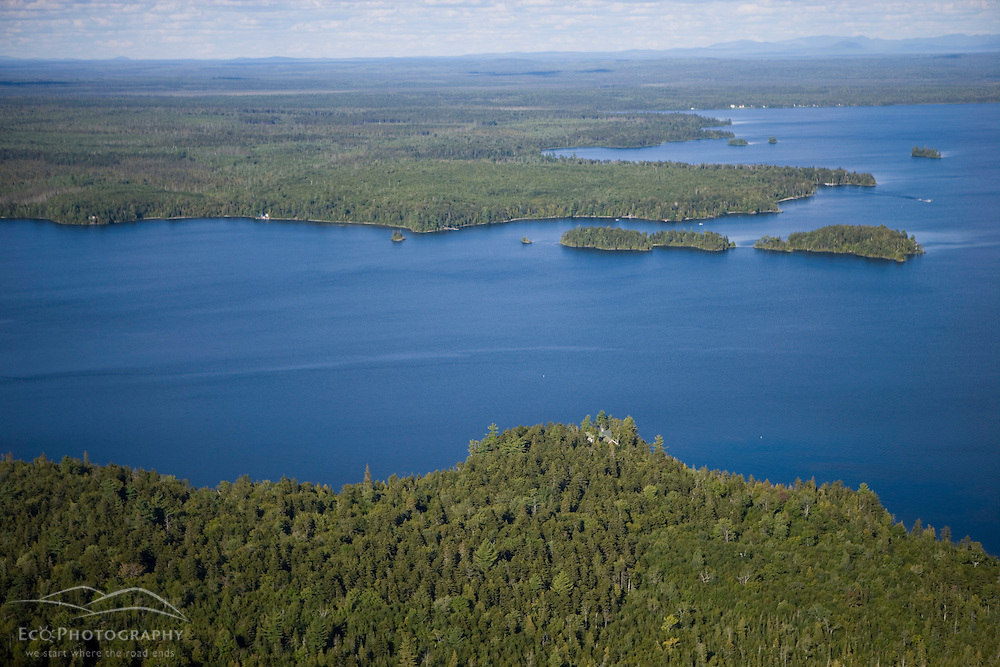 """Shoreline of """"Big W"""" section of Moosehead Lake.  Northwestern shoreline.  Maine.  Northern Forest.  Plum Creek land proposed for development."""