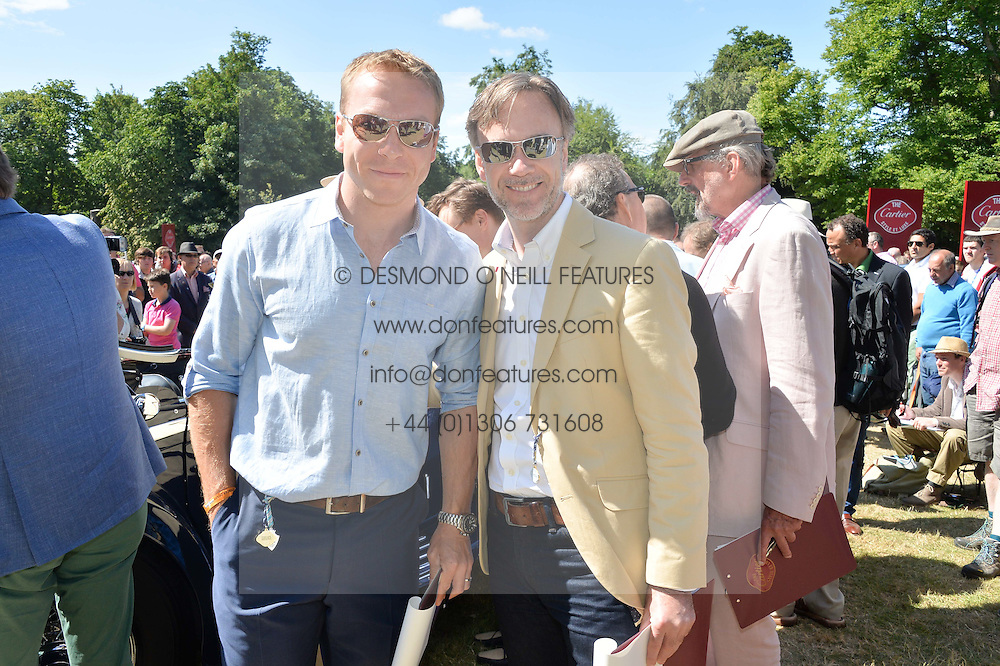 Left to right, SIR CHRIS HOY and MARCUS WAREING at the Cartier hosted Style et Lux at The Goodwood Festival of Speed at Goodwood House, West Sussex on 29th June 2014.