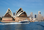 Sydney Opera House and city, Sydney, Australia