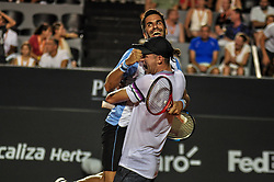 February 23, 2019 - Rio De Janeiro, Brazil - RIO DE JANEIRO, RJ - 23.02.2019: RIO OPEN 2019 - Maximo Gonzalez (ARG) and Nicolas Jarry (CHI) champions of the doubles tournament during the Rio Open 2019 (ATP 500) held at the Jockey Club Brasileiro in Rio de Janeiro, RJ, on Saturday (23) .6  (Credit Image: © Nayra Halm/Fotoarena via ZUMA Press)