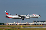 American Airlines, Boeing 777 at Malpensa airport, Milan, Italy