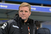 Bournemouth manager Eddie Howe during the The FA Cup third round match between Birmingham City and Bournemouth at St Andrews, Birmingham, England on 9 January 2016. Photo by Alan Franklin.