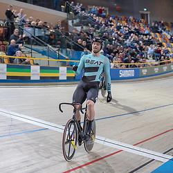 27-12-2018: Wielrennen: NK Baan: Apeldoorn<br /> Mathijs Buchli pakt de titel op de sprint ten koste van Jeffrey Hoogland