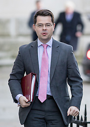 © Licensed to London News Pictures. 29/11/2016. London, UK. Northern Ireland Secretary James Brokenshire arriving in Downing Street to attend a cabinet meeting this morning. Photo credit : Tom Nicholson/LNP