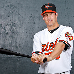 February 26, 2011; Sarasota, FL, USA; Baltimore Orioles infielder Nick Green (6) poses during photo day at Ed Smith Stadium.  Mandatory Credit: Derick E. Hingle
