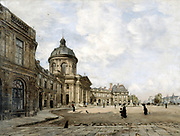 French Institute, Paris September 1887'. Oil on canvas.  Emmanuel Lansyer (1835-1893) French landscape painter. France Culture Literature