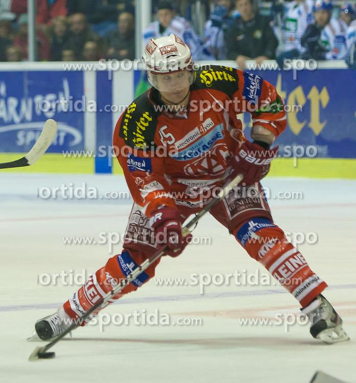 25.10.2011, Stadthalle, Klagenfurt, AUT, EBEL, EC KAC vs EC VSV, im Bild Kirk Furey (Kac, #25), EXPA Pictures © 2011, PhotoCredit: EXPA/ Gert. Steinthaler