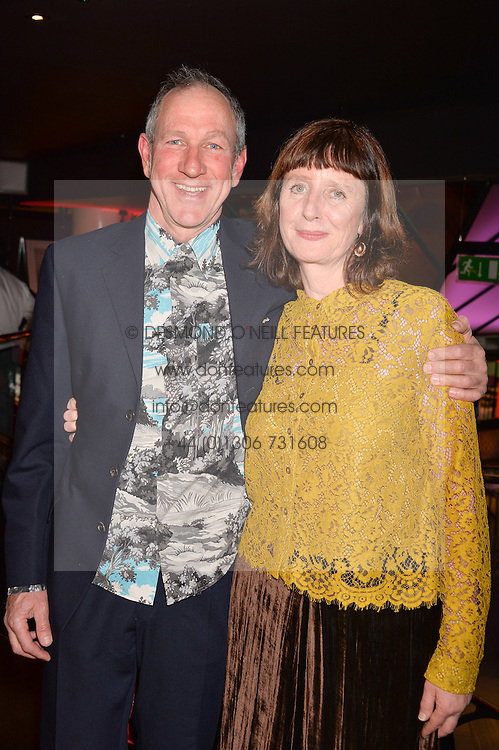 Keggie Carew winner of the Costa Biography Award and her husband Jonathan Thomson at the Costa Book of The Year Awards held at Quaglino's, 16 Bury Street, London England. 31 January 2017.