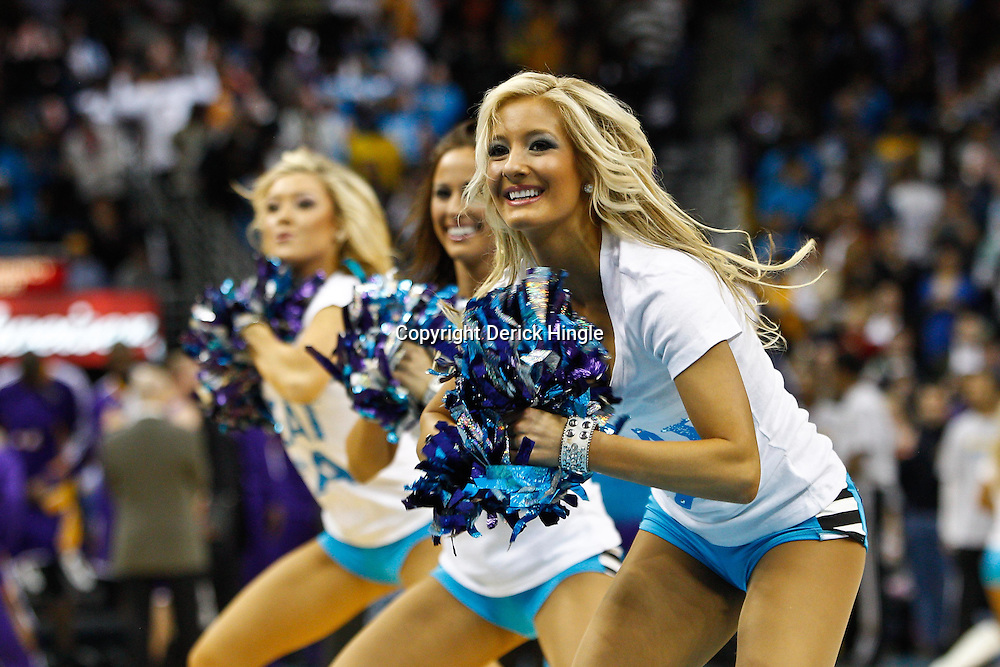 February 5, 2011; New Orleans, LA, USA; New Orleans Hornets Honeybees dancers perform during the third quarter of a game against the Los Angeles Lakers at the New Orleans Arena. The Lakers defeated the Hornets 101-95.  Mandatory Credit: Derick E. Hingle