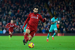 LIVERPOOL, ENGLAND - Saturday, December 29, 2018: Liverpool's Mohamed Salah during the FA Premier League match between Liverpool FC and Arsenal FC at Anfield. (Pic by David Rawcliffe/Propaganda)