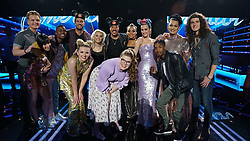 """Katy Perry releases a photo on Twitter with the following caption: """"""""My ❤ has been on a roller coaster tonight 😭 Congratulations to the Top 🔟 America, if you truly are a fan of one of these singers, you must vote #americanidol"""""""". Photo Credit: Twitter *** No USA Distribution *** For Editorial Use Only *** Not to be Published in Books or Photo Books ***  Please note: Fees charged by the agency are for the agency's services only, and do not, nor are they intended to, convey to the user any ownership of Copyright or License in the material. The agency does not claim any ownership including but not limited to Copyright or License in the attached material. By publishing this material you expressly agree to indemnify and to hold the agency and its directors, shareholders and employees harmless from any loss, claims, damages, demands, expenses (including legal fees), or any causes of action or allegation against the agency arising out of or connected in any way with publication of the material."""