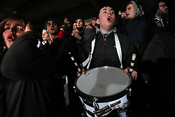 Frustration for Hereford fans during the Emirates FA Cup, Second Round Replay at Edgar Street, Hereford.