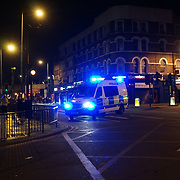 Van hits worshippers outside mosque believe four dead ten injured. The Muslim community believes is a terrorits attacks Van deliberately driven into worshipers leaving Finsbury Park Mosque on 19th June 2017 in Finsbury Park, London, UK