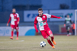 Francesco Tahiraj of NK Aluminij during football match between NK Domzale and NK Aluminij in Round #24 of Prva liga Telekom Slovenije 2017/18, on March 18, 2018 in Sports park Domzale, Domzale, Slovenia. Photo by Urban Urbanc / Sportida