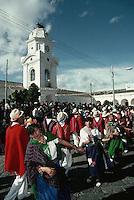 June 1995, Pujili, Ecuador --- Women Dancing in the Street --- Image by © Owen Franken/CORBIS