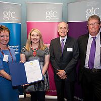 Images from the 2014 GTSC Probabtion Event Pictured are Jackie Brock (Chief Executive of Children First), Carina Taylor (Argyll & Bute),,Ken Muir (Chief Executive GTCS) and Derek Thompson (Convener GTCS). Thursday 12th June 2014.