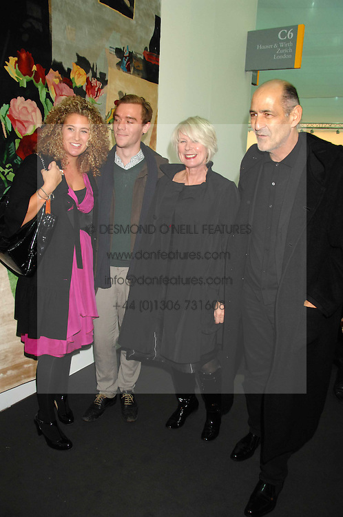Left to right, PASCALE COHEN, ANDREW JUDD, BETTY JACKSON and her husband DAVID COHEN at the opening of Frieze Art Fair 2007 held in regent's Park, London on 10th October 2007.<br />