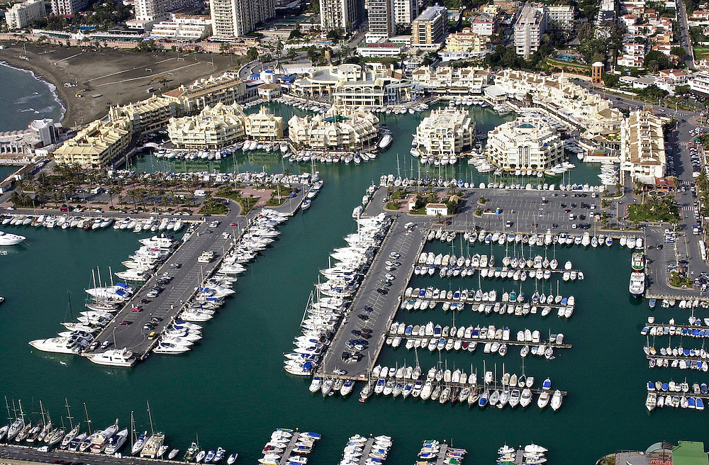 Aerial picture of Benalmadena marina, Costa del Sol, Spain