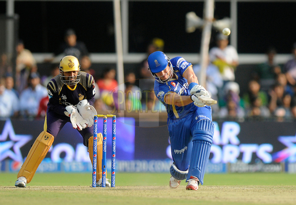 Shane Watson captain of the Rajatshan Royals bats during match 25 of the Pepsi Indian Premier League Season 2014 between the Rajasthan Royals and the Kolkata Knight Riders held at the Sardar Patel Stadium, Ahmedabad, India on the 5th May  2014<br /> <br /> Photo by Pal Pillai / IPL / SPORTZPICS      <br /> <br /> <br /> <br /> Image use subject to terms and conditions which can be found here:  http://sportzpics.photoshelter.com/gallery/Pepsi-IPL-Image-terms-and-conditions/G00004VW1IVJ.gB0/C0000TScjhBM6ikg